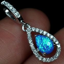 Liontin Opal Sintetis Silver 925