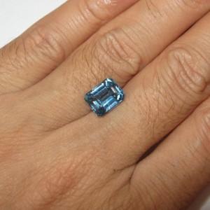Swiss Blue Topaz 3.50 carat untuk cincin para executive