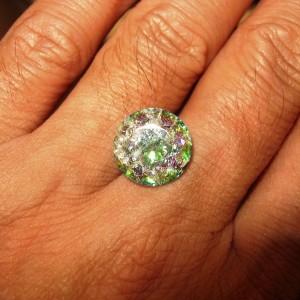 Rainbow Quartz 5.9 carat Round Cut, Ready Stock!