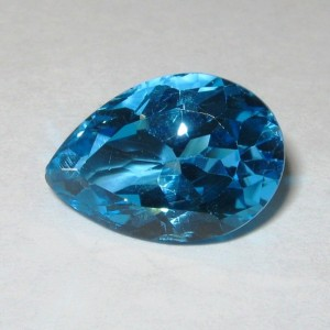 Permata Swiss Blue Topaz 6.12 carat Pear Shape