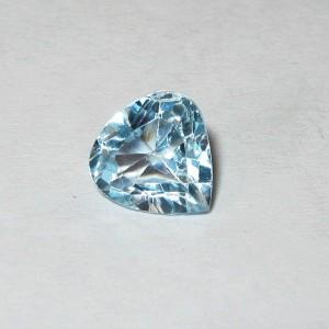 Batu Permata Topaz 1.65 carat Heart