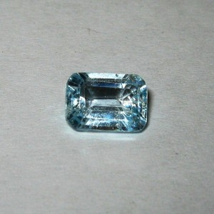 Rectangular Light Blue Topaz 1.30 carat