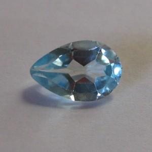 Pear Shape Blue Topaz 1.55 carat Permata Alami untuk Perhiasan