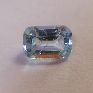 Batu Permata Rectangular Light Blue Topaz 1.20