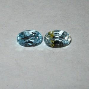 Couple Oval Topaz 1.20 carat