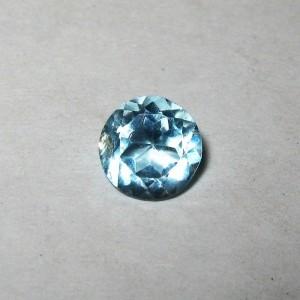 Batu Blue Topaz 0.8 carat Round, Warna Light Blue