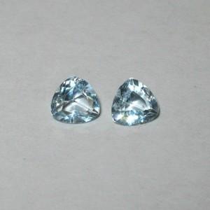 Topaz Trilliant Couple 1 carat