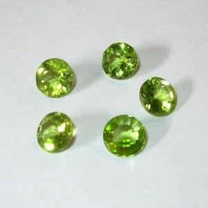 5 pcs Peridot Round Cut 2.35 carat