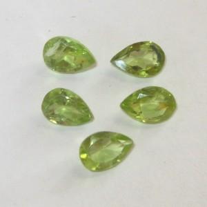 5 pcs Pear Shape Peridot 2.10 carat