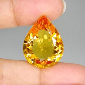 Orange Yellow Pear Shape Citrine