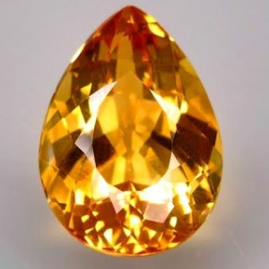 Pear Shape Golden Yellow Citrine 7.5 carat