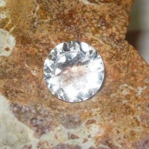 Round White Topaz 2.92 carat Bersinar Terang