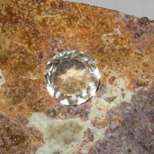 Round White Topaz 3.10 carat