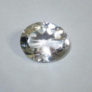 Batu Permata Topaz Putih Asli, Oval 5.38 carat