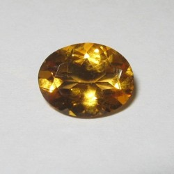Permata Citrine 1.55 carat Warna Orangy Yellow