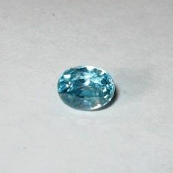 Permata Zircon Alami Biru Oval 1.32 carat
