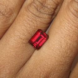 Rectangular Pyrope Garnet 2.07 carat