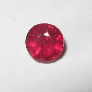 Pinkish Red Ruby Round 1.08 carat
