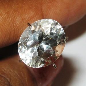 Batu Permata Natural White Topaz Oval 6.13 carat