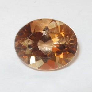 Batu Permata Champagne Topaz Oval 4.50 carat