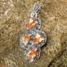 Liontin Silver Citrine CZ Pear Shape