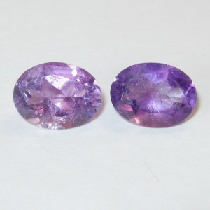 Couple Purple Amethyst Oval 2.45 carat