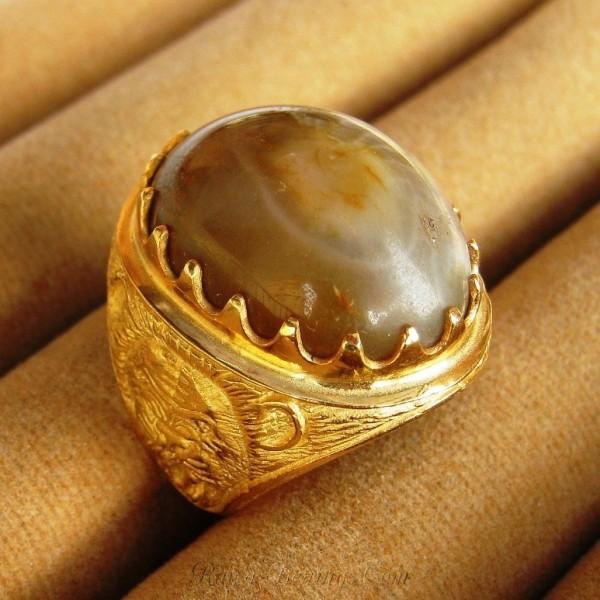 Cincin Batu Akik Garut Antik Ada Sedikit Combongnya Gan!