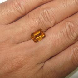 Rectangular Madeira Citrine 2.14 carat