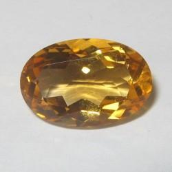 Batu Permata Citrine Alami Oval 3.47 carat
