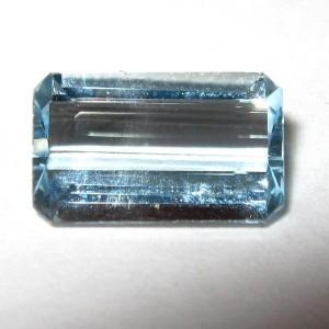 Aquamarine Biru Bening 1.12 carat