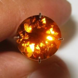 Round Madeira Citrine 2.35 carat Full Luster!