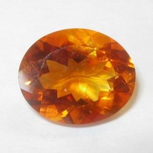 Permata Citrine Warna Oranye Madeira 2.75 carat