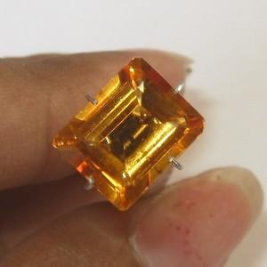 Rectangular Madeira Citrine 3.05 carat