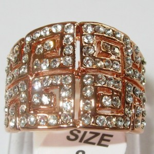 Cincin Retro Rose Gold Filled 8US