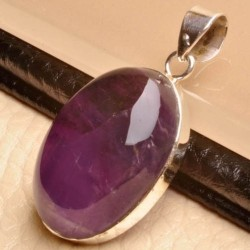 Liontin Silver 925 Natural Amethyst