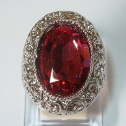Cincin Model Pink Topaz CZ Ring 8US