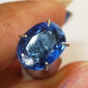 Batu Permata Kyanite Biru Berserat 1.59 carat