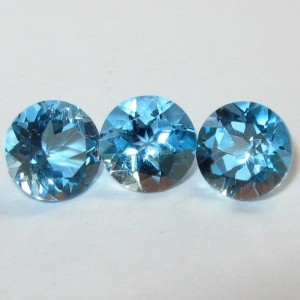 Swiss Blue Topaz Round 6mm