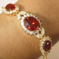 Gelang Gold Filled Garnet CZ