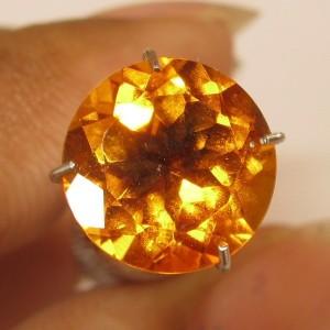 Round Citrine Madeira 2.48 carat