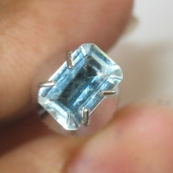 Rectangular Light Blue Aquamarine 0.45 carat