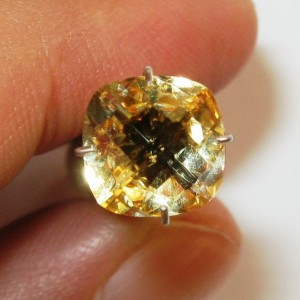 Citrine Kuning Cushion Buff Top 1.84 carat