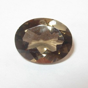 Batu Permata Natural Smoky Quartz Oval 1.57 carat