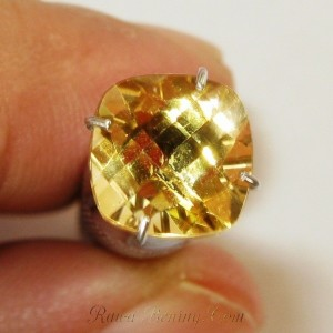 Citrine Yellow Cushion 2.13 carat