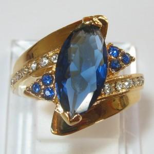 Cincin Yellow Gold Filled Sapphire CZ