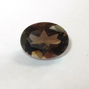 Batu Permata Smoky Quartz Oval 1.72 carat