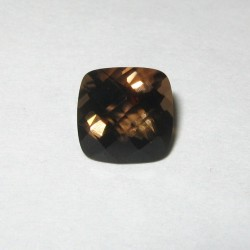 Deep Smoky Quartz Cushion 1.45 carat