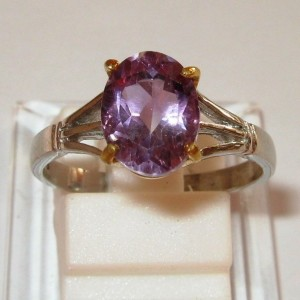 Simple Lady Amethyst Ring 7.5US