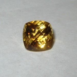 Batu Permata Natural Cushion Yellow Citrine 2.19 carat
