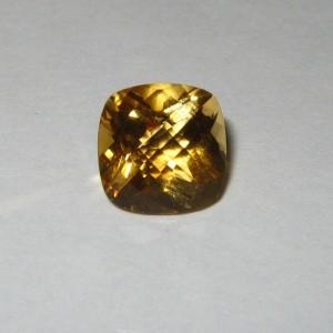 Buff Top Yellow Cushion Citrine 2.28 carat
